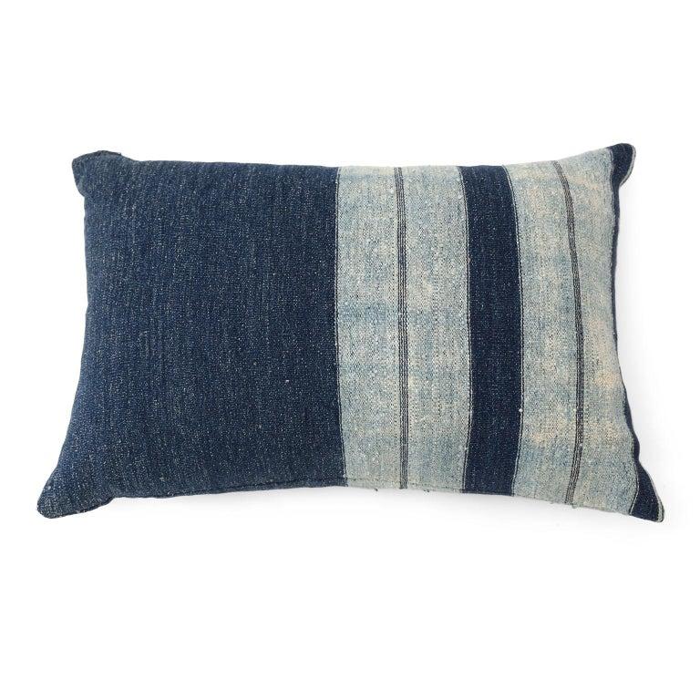 Primitive Faded Indigo Cushions For Sale