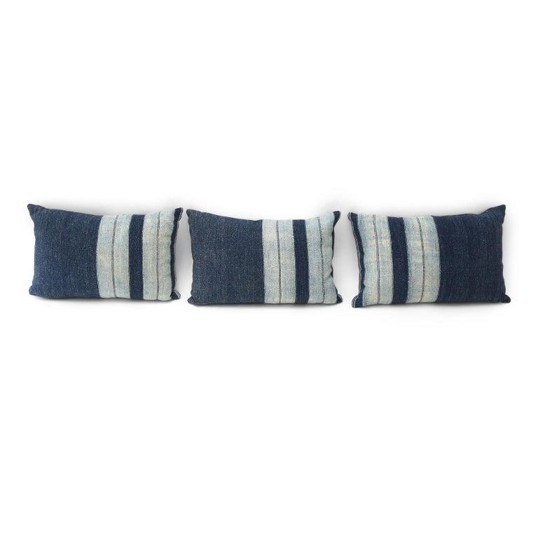 Contemporary Faded Indigo Cushions For Sale