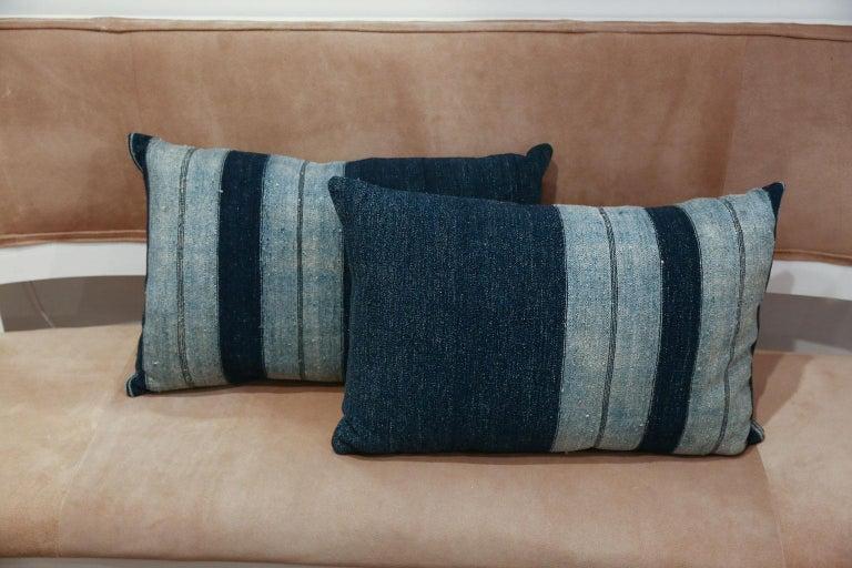 Faded Indigo Cushions For Sale 1