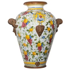 Faenza Large Ceramic Vase by Manetti e Masini