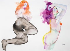 A GIRL LIKE ME, Watercolor Painting, Nude, Signed, Framed