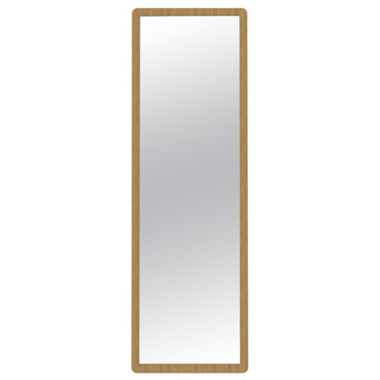 Fai Large Mirror M01 Wide Size, Contemporary Oakwood Handcrafted in Italy For Sale