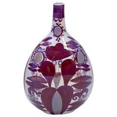 Faience Bottle Vase by Kari Christensen for Royal Copenhagen