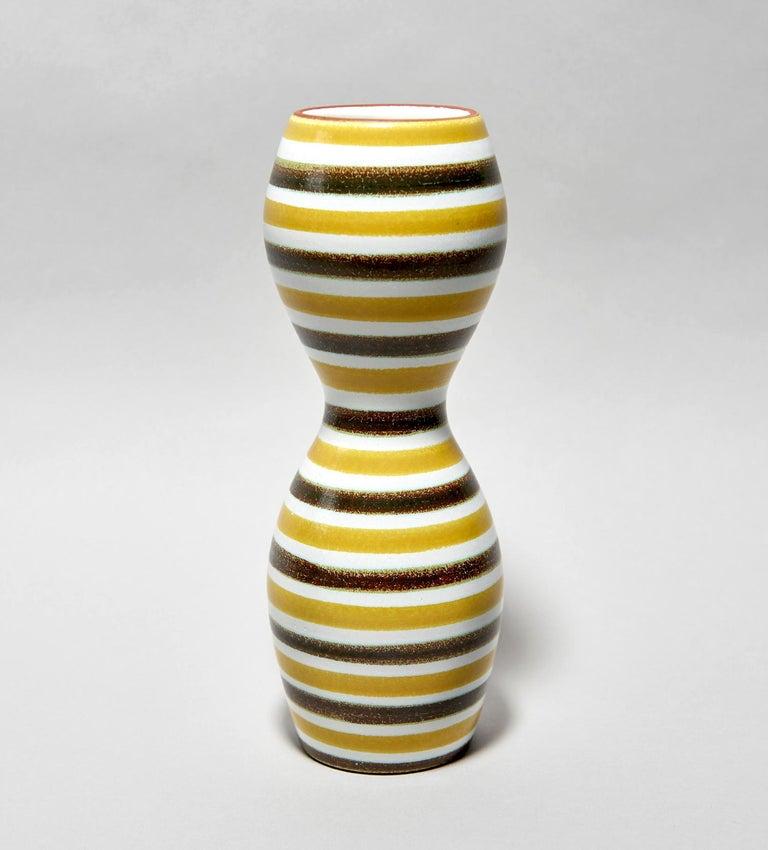 Scandinavian Modern Faïence Vase by Stig Lindberg For Sale