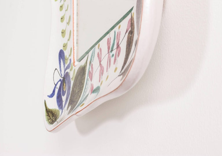 Faience Wall Mirror by Stig Lindberg In Excellent Condition For Sale In Stockholm, SE