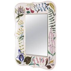 Faience Wall Mirror by Stig Lindberg