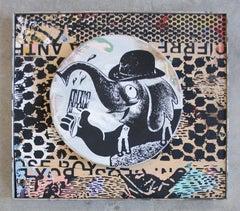 "Amor, Mixed Media Wall Sculpture, Created for ""Les Ballets de Faile"", Street Art"