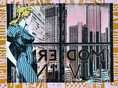 FAILE: Modern Living - Hand painted Acrylic and silkscreen. Pop Art, Street art