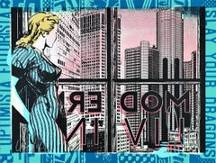 FAILE: Modern Living - Hand painted Acrylic and silkscreen. Pop Art, Street art