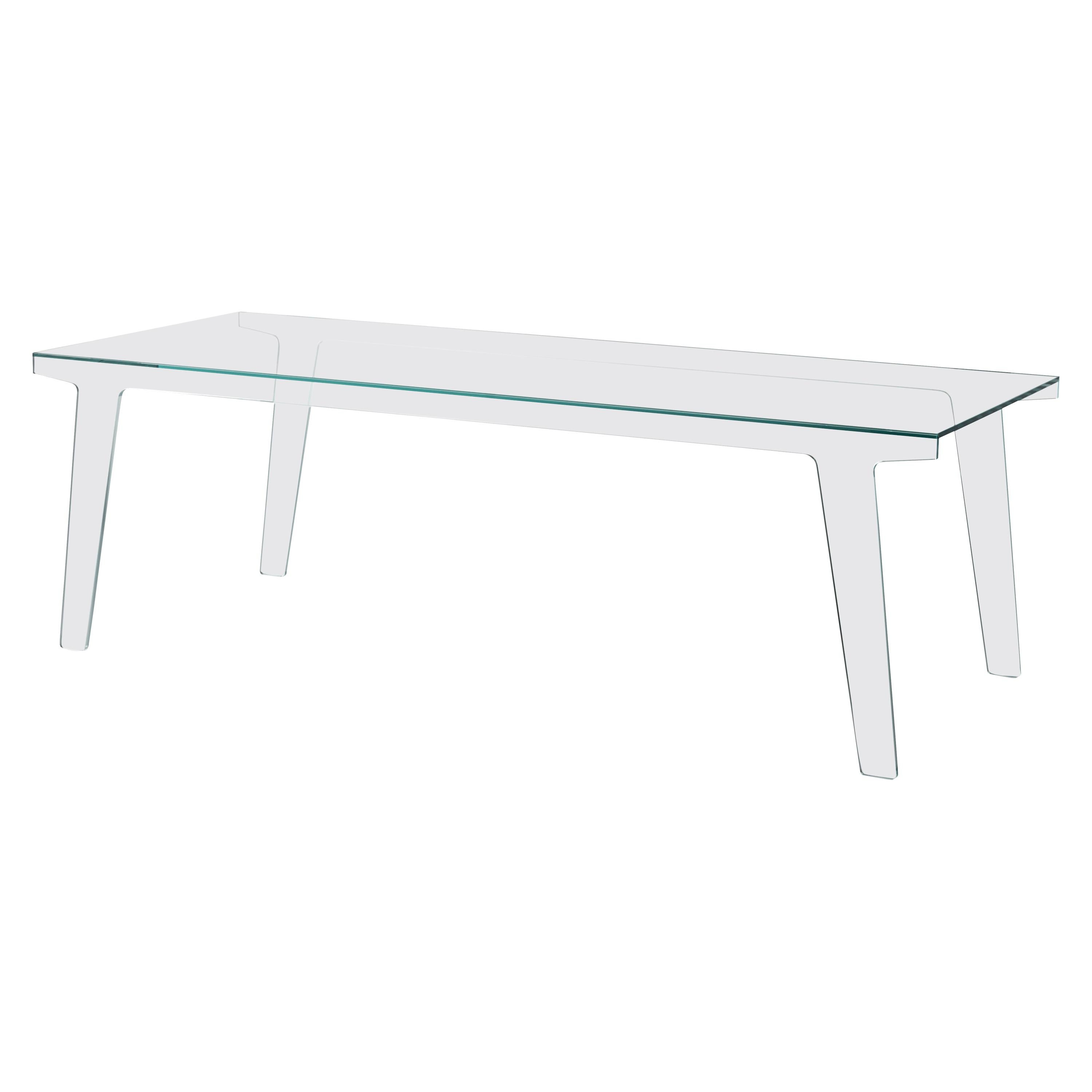Faint Large High Transparent Table, by Patricia Urquiola for Glas Italia