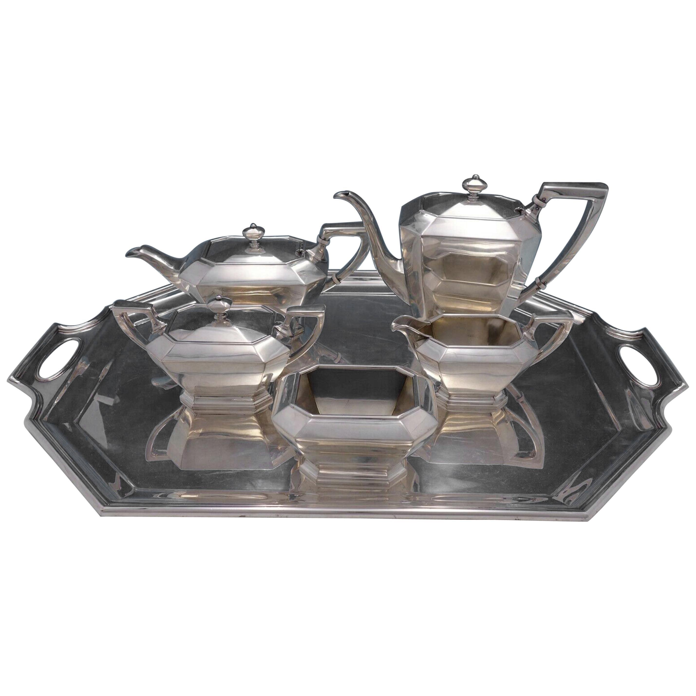 Fairfax by Durgin-Gorham Sterling Silver Tea Set 6-Piece Antique