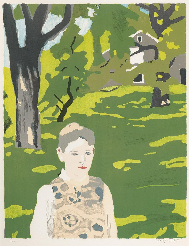 Fairfield Porter Portrait Print - Girl in the Woods