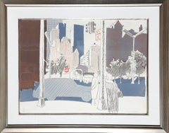 New York City, Framed Lithograph by Fairfield Porter