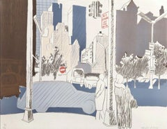 Street Scene (L18), 1969 Limited Edition Lithograph, Fairfield Porter