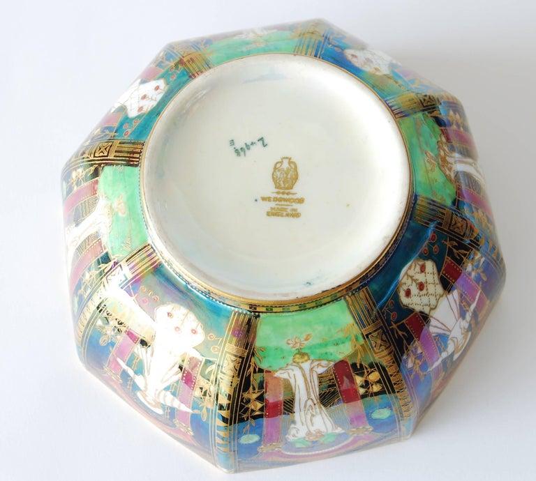 English Fairyland Lustre Bowl, Geisha Wedgwood, circa 1925 For Sale