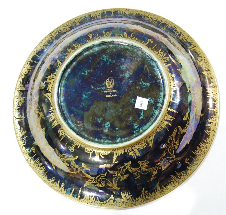 Art Deco Fairyland Lustre Lily Tray, Jumping Faun, Wedgwood, circa 1925 For Sale