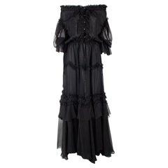 Faith Connexion Off-The-Shoulder Ruffle Maxi Dress