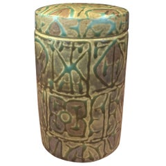 Fajance Ceramic Lidded Jar / Humidor by Nils Thorsson for Royal Copenhagen