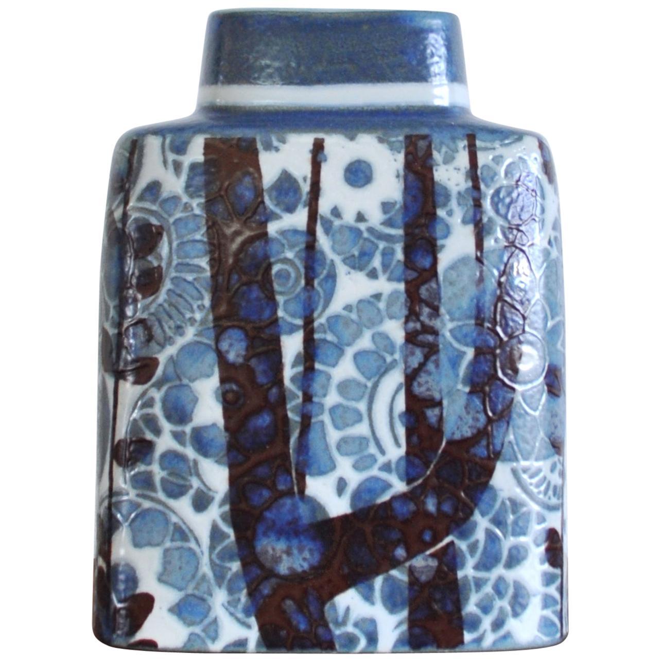 Fajance Vase by Johanne Gerber Royal Copenhagen