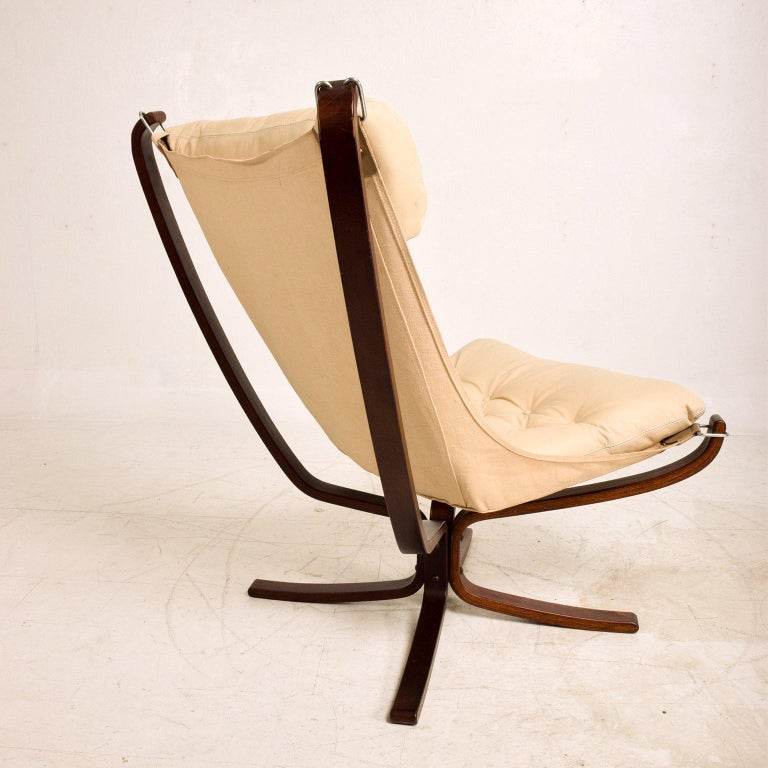 Leather Falcon Chair by Westnofa For Sale