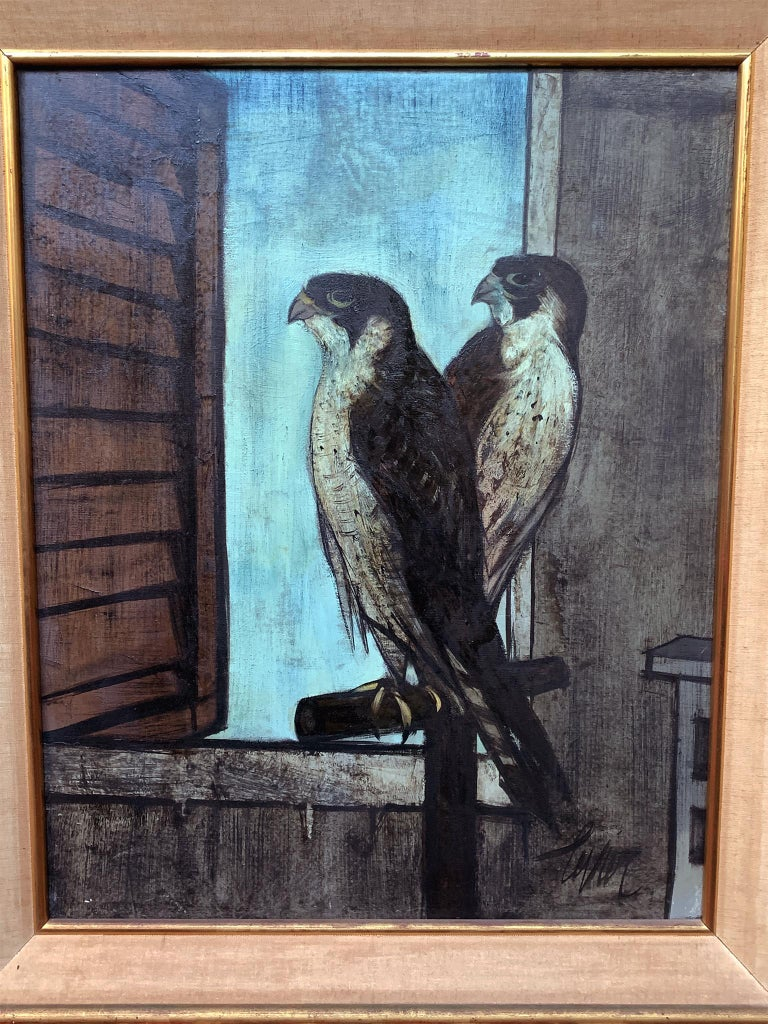 Modern Falcon II, Oil Painting by Charles Levier For Sale
