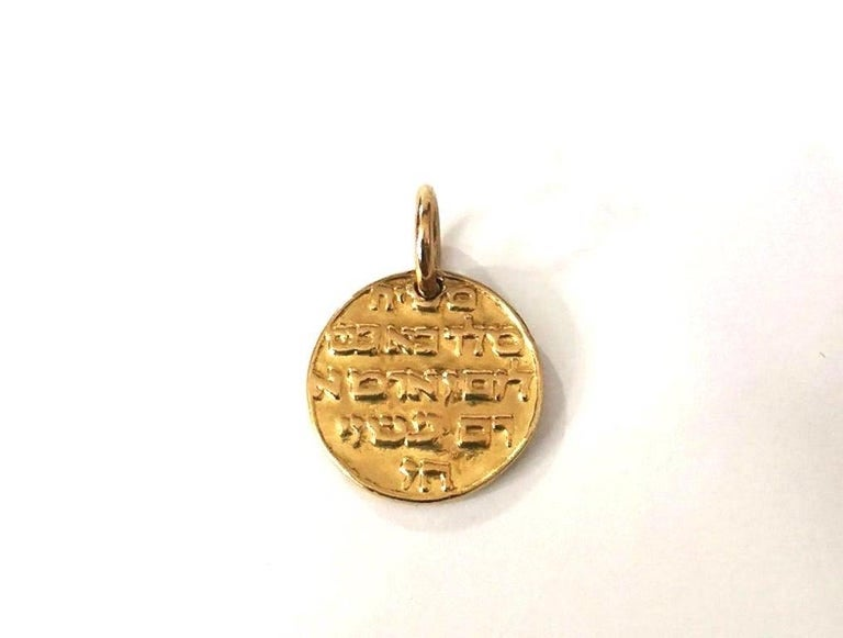 Women's or Men's Falize Gold Medallion Campo Del Fiori, circa 1897 For Sale