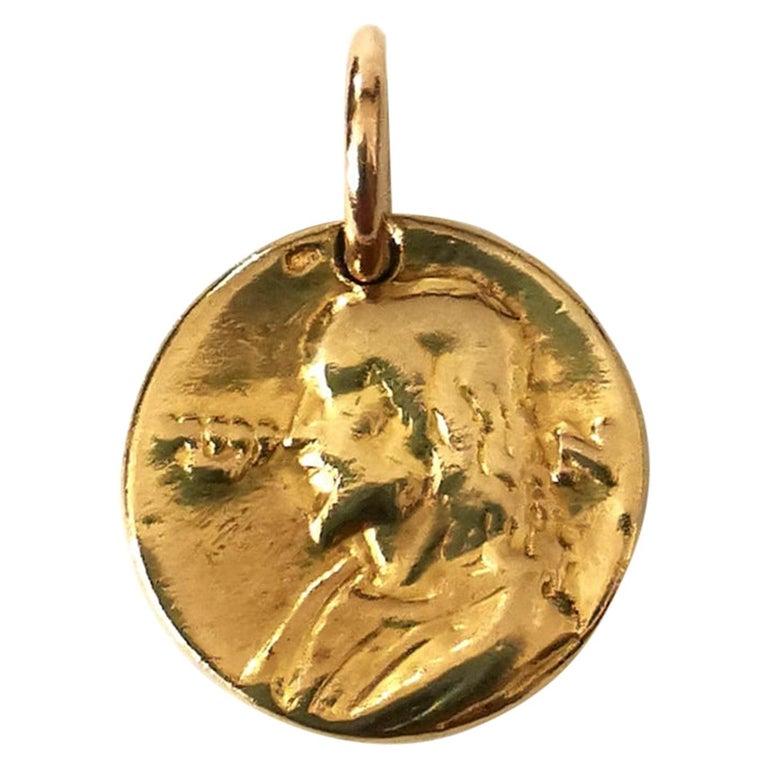 Falize Gold Medallion Campo Del Fiori, circa 1897 For Sale