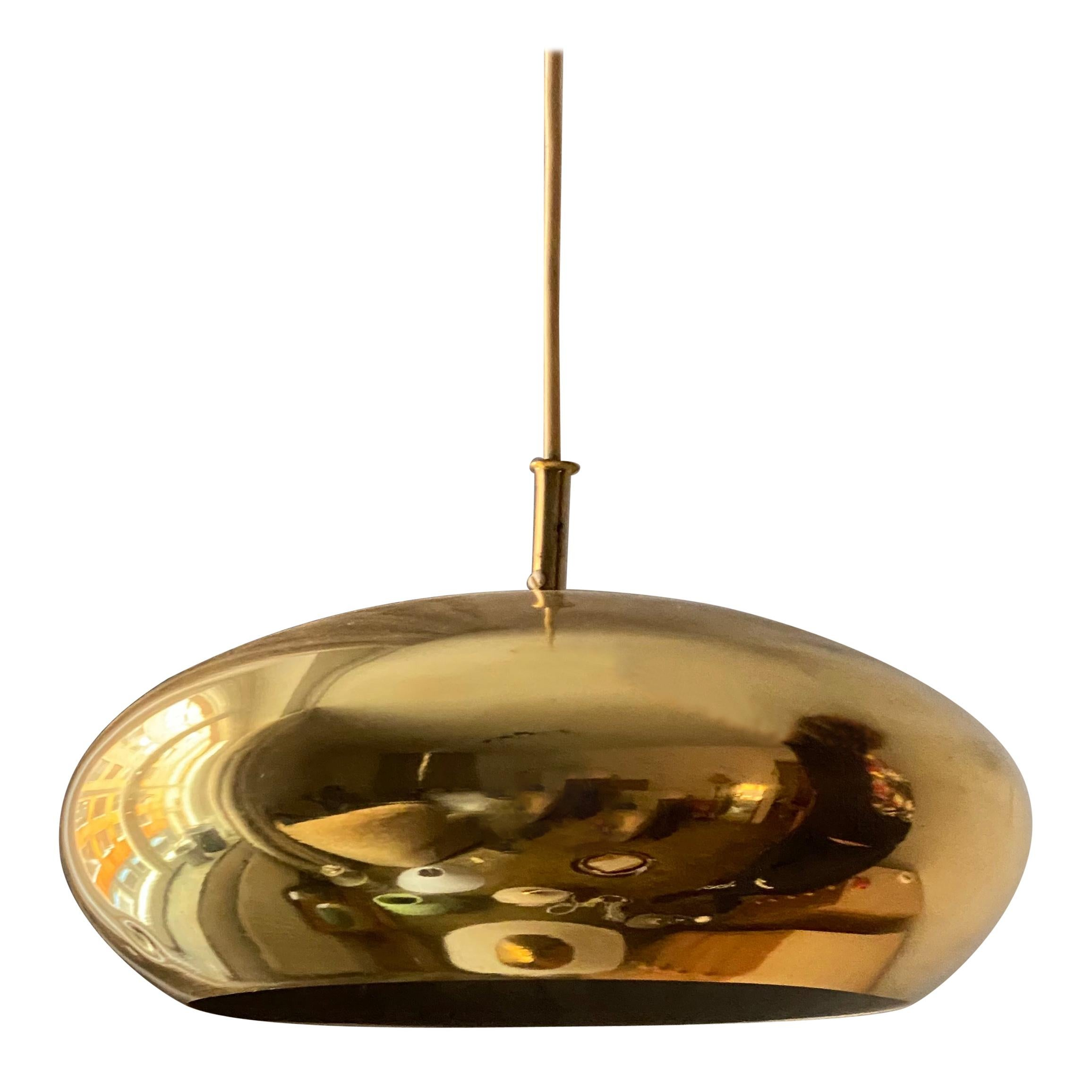 Falkenbergs Belysning, Pendant Lamp, Polished Brass, Sweden, 1960s