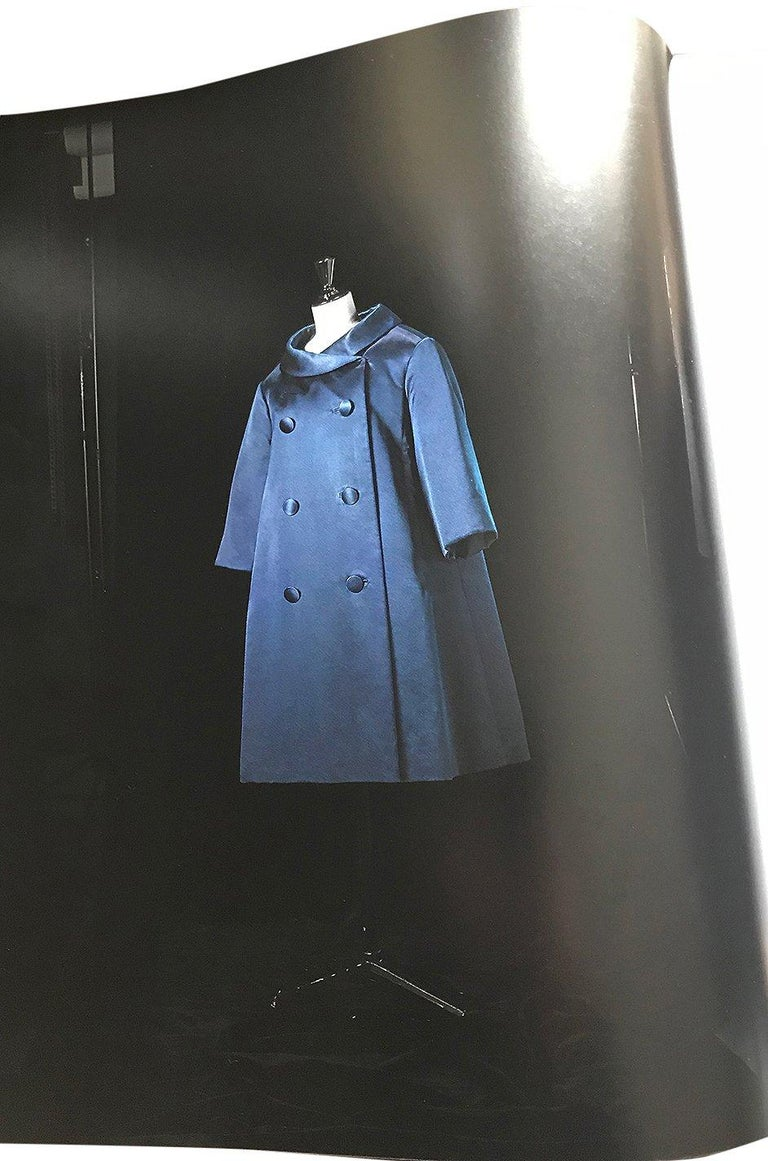 Fall 1958 Christian Dior by YSL Haute Couture Courbe Line Coat For Sale 9