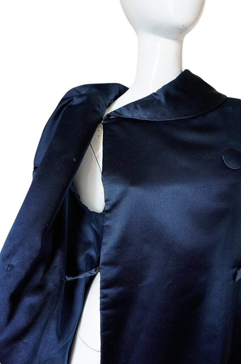 Fall 1958 Christian Dior by YSL Haute Couture Courbe Line Coat For Sale 5