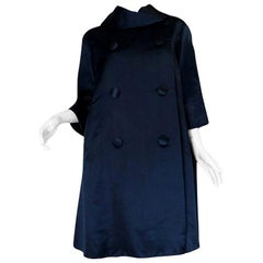 Fall 1958 Christian Dior by YSL Haute Couture Courbe Line Coat