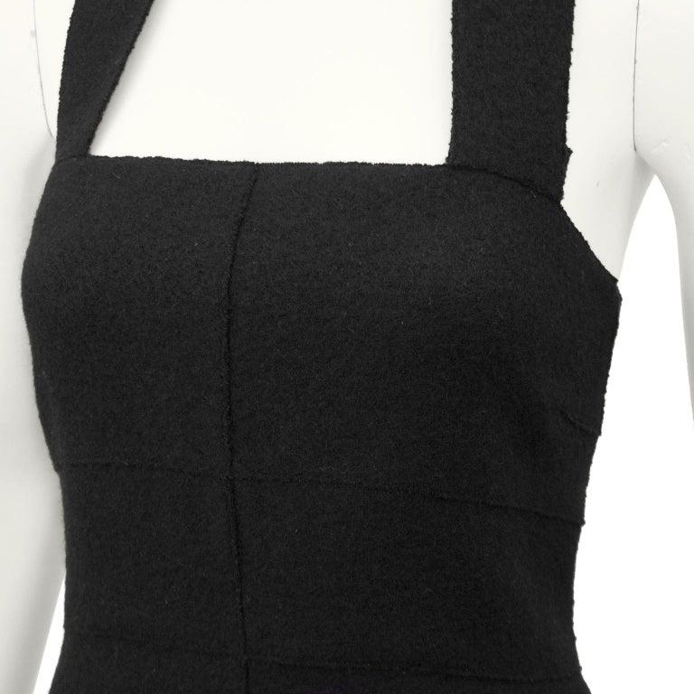 Women's Fall 1999 Chanel Black Wool Halter Dress For Sale