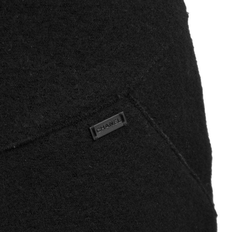 Fall 1999 Chanel Black Wool Halter Dress For Sale 2
