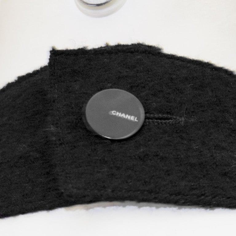 Fall 1999 Chanel Black Wool Halter Dress For Sale 3