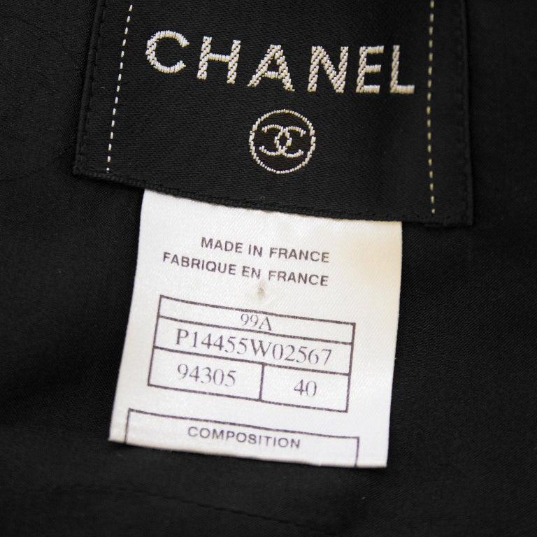 Fall 1999 Chanel Black Wool Halter Dress For Sale 4