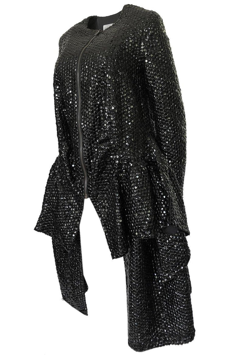 Women's Fall 2008 Yves Saint Laurent by Stefano Pilati Runway Metal Sequin Coat For Sale