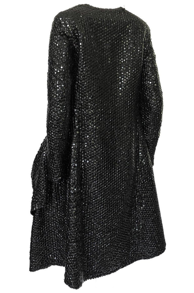 Fall 2008 Yves Saint Laurent by Stefano Pilati Runway Metal Sequin Coat For Sale 1