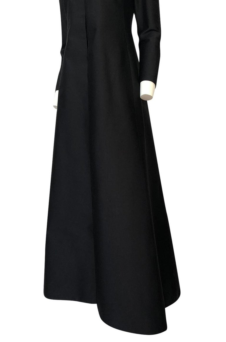 Fall 2013 Valentino Runway Finale Long Sleeve Simple & Graceful Black Dress For Sale 6