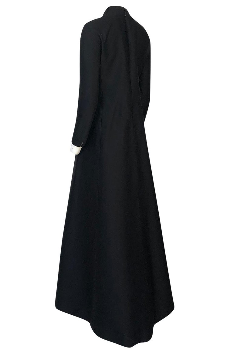 Fall 2013 Valentino Runway Finale Long Sleeve Simple & Graceful Black Dress For Sale 2
