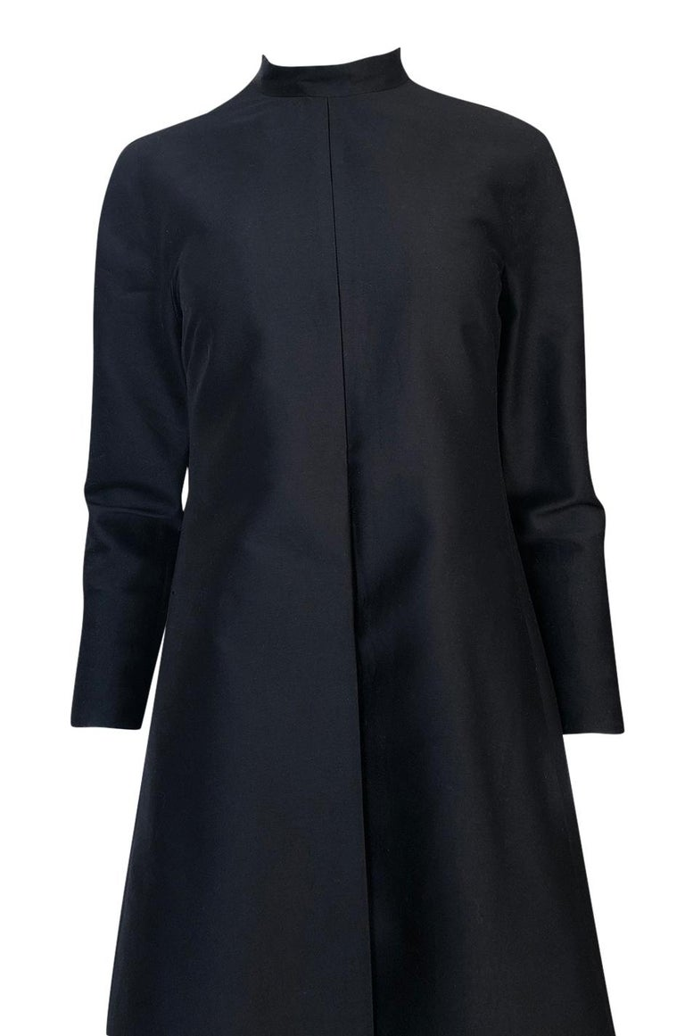 Fall 2013 Valentino Runway Finale Long Sleeve Simple & Graceful Black Dress For Sale 3