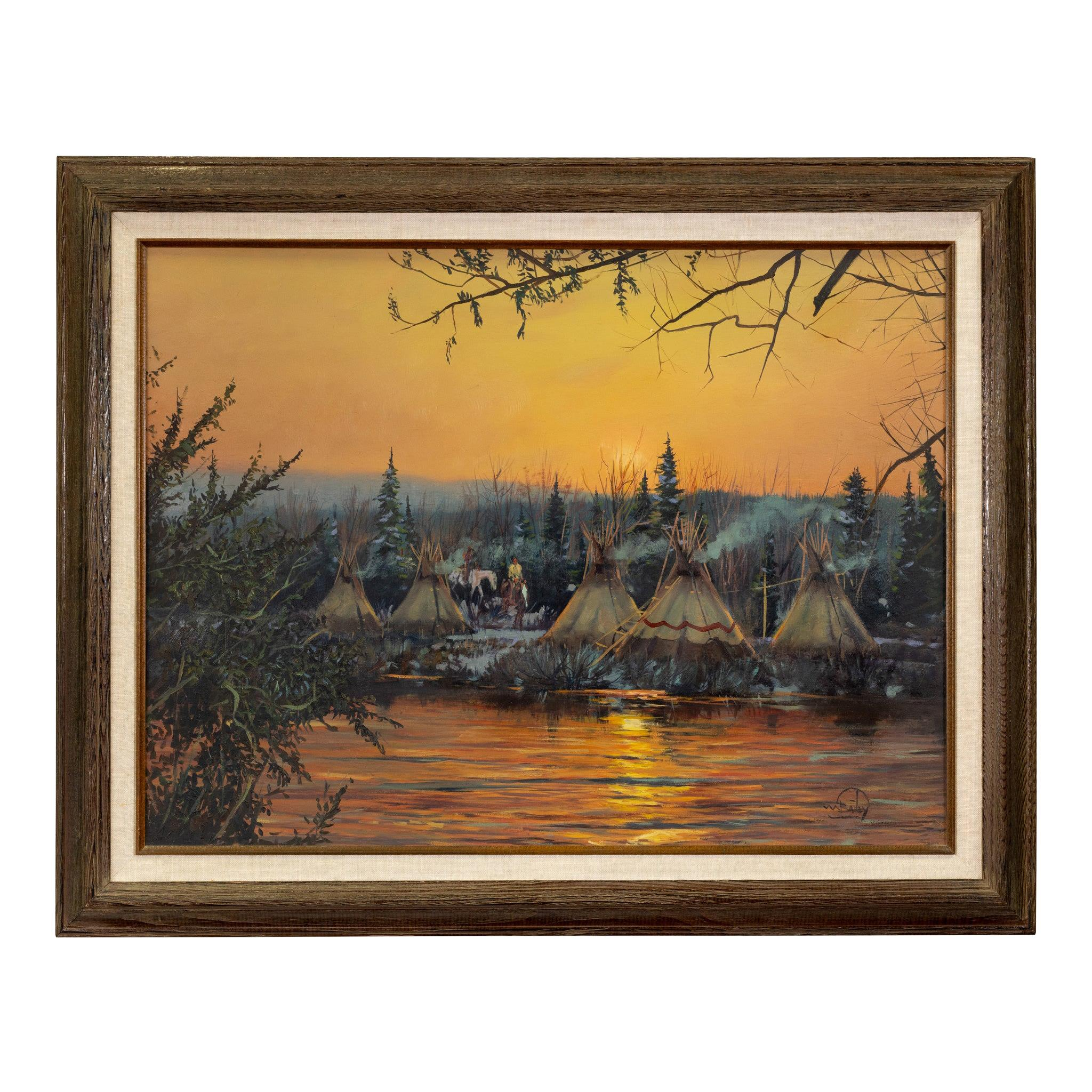 """""""Fall Camp"""" Original Oil Painting by William Bailey"""