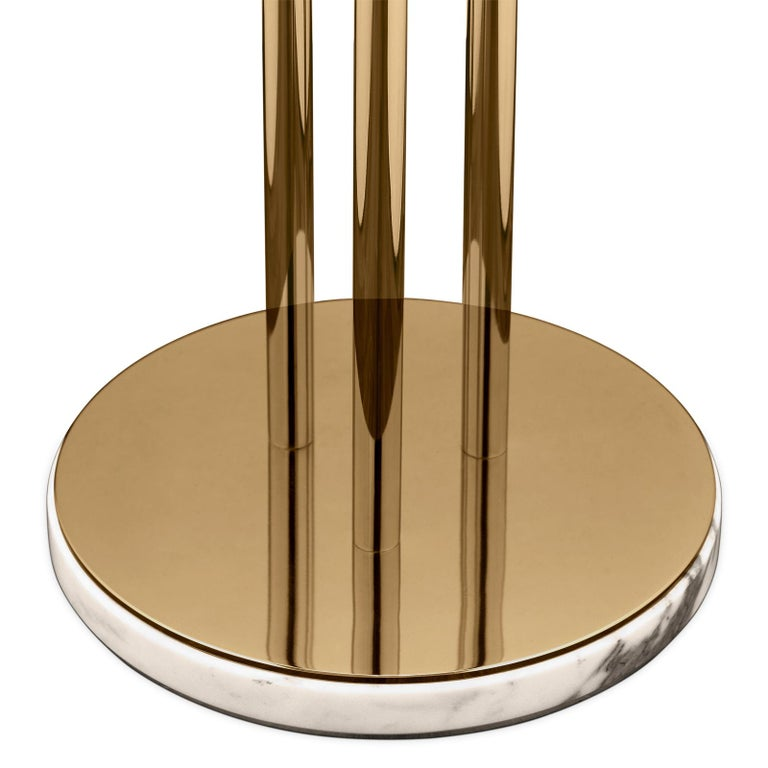 Fall Floor Lamp with Gold-Plated Solid Brass In New Condition For Sale In Paris, FR