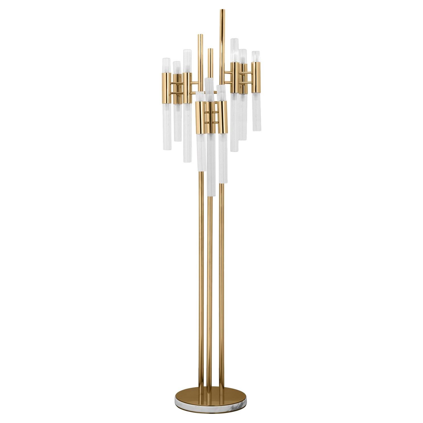 Fall Floor Lamp with Gold-Plated Solid Brass