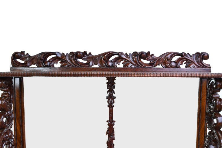 Fall-Front Desk in West Indies Mahogany Attributable to Hetsch, Denmark For Sale 4