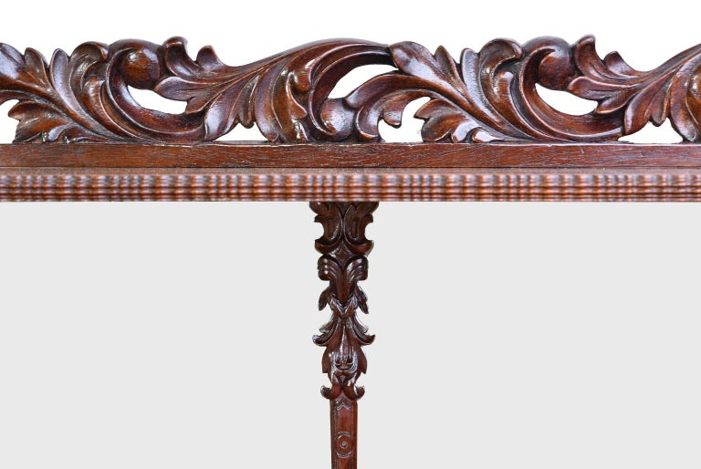 Fall-Front Desk in West Indies Mahogany Attributable to Hetsch, Denmark For Sale 5