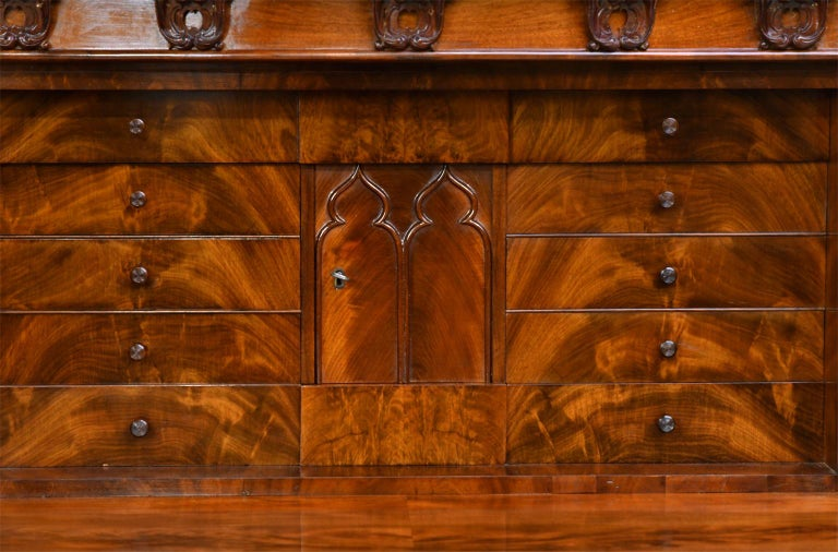 Fall-Front Desk in West Indies Mahogany Attributable to Hetsch, Denmark For Sale 1