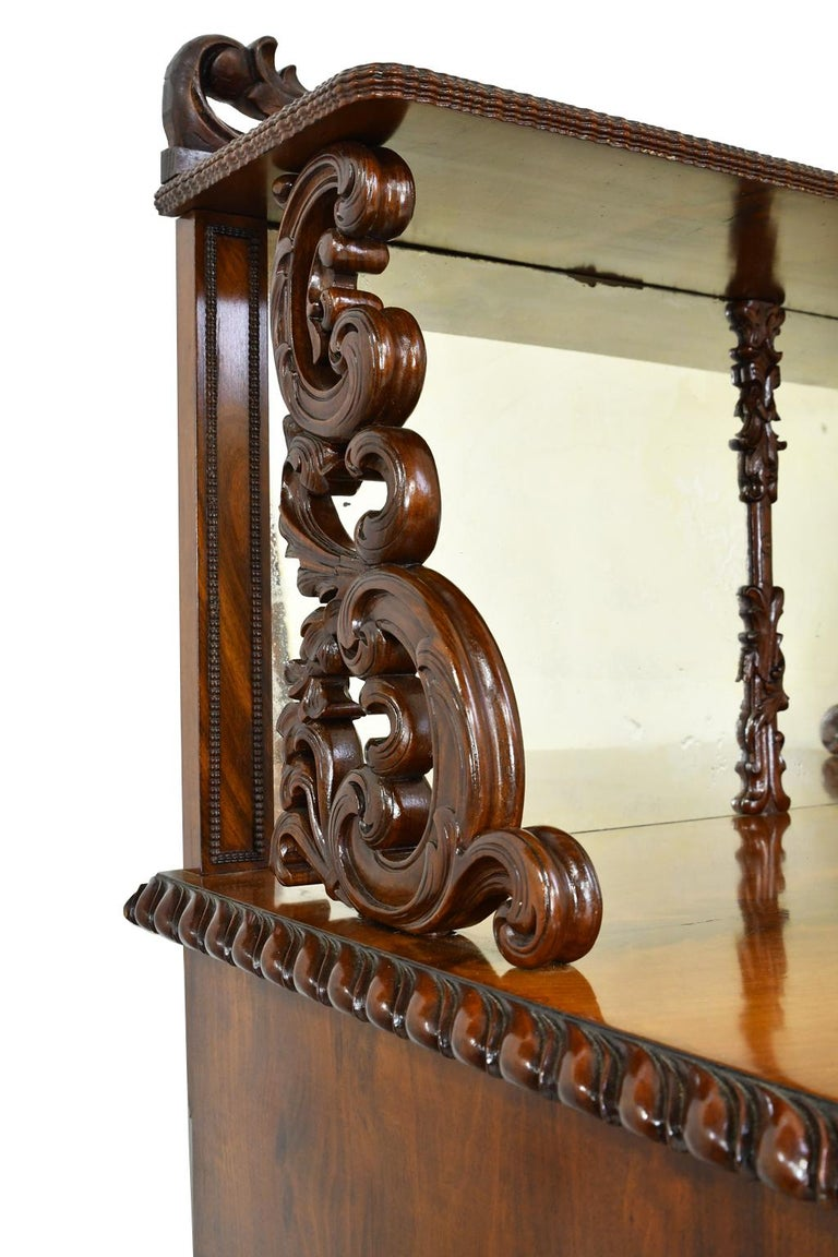 Fall-Front Desk in West Indies Mahogany Attributable to Hetsch, Denmark For Sale 3