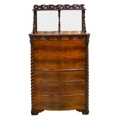 Fall-Front Desk in West Indies Mahogany Attributable to Hetsch, Denmark