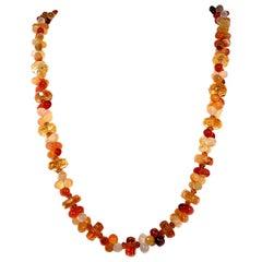 Fall Tone Multi-Color Agate and Citrine Necklace