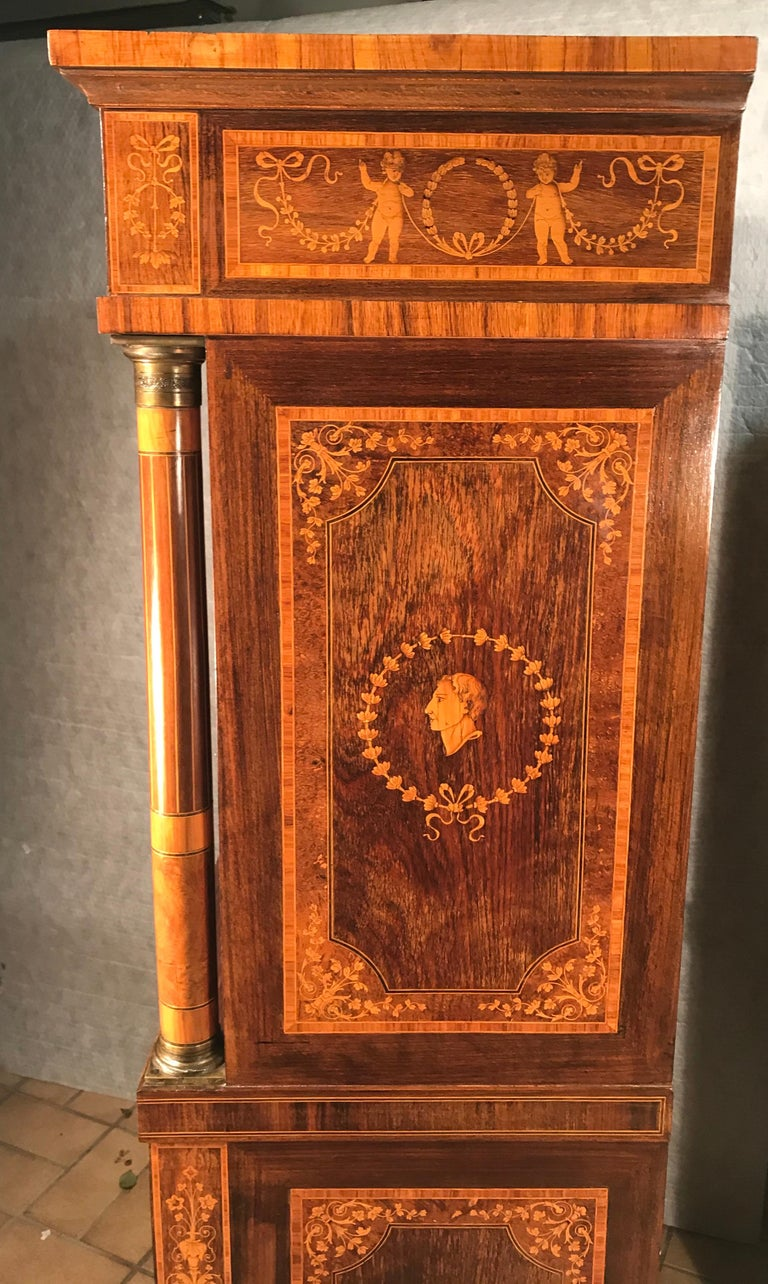 Fall Top Desk, Italy 1870-1890, Manner of Giuseppe Maggiolini For Sale 7